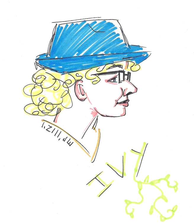 A nice sketch of Ivy aka The Hipster.